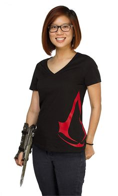 "Assassin's Creed ""V"" Neck Ladies' Tee"