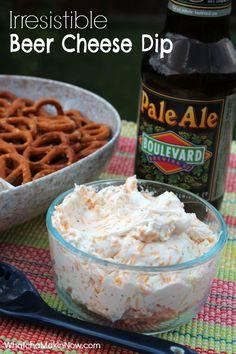 Irresistible Beer Cheese Dip - Only 4 ingredients