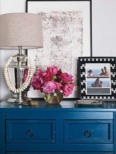 peacock blue dresser.