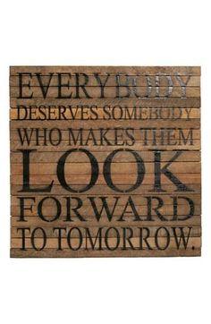 Look forward to tomorrow.