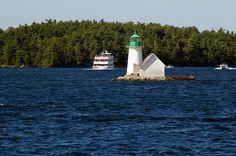 Sunken Rock Light, Saint Lawrence Seaway near Alexandria Bay, New York