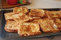 Easy French Toast from Table for 7 - this only made 7 pieces instead of the 12 for me, but maybe I put a coat em a tad extra?  still yummy!