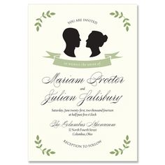 Silhouette Invitation - Unique Wedding Invitation by The Green Kangaroo