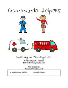 The Community Service Helper Unit is aligned with Common Core Standards for Math and Literacy. The Community Service Helpers for math contains emer...