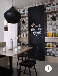 wall to wall tiling job http://frenchbydesign.blogspot.com/