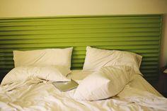 Corrugated tin headboard <3