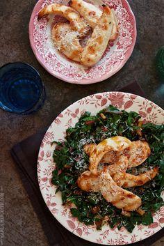 Grilled Chicken with Rainbow Chard | Gluten Free, Paleo recipe | FamilyFreshCooking.com