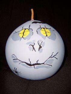 A Halloween gourd named Moon Eyes