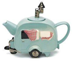 happi camper, tea parti, tea time, trailer, teapots, tea pot, teas, caravan teapot, vintage campers