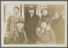 Van Wyck Brooks, Walter Pach, Eugénie Prendergast, Gladys Brooks, Charles Prendergast, and Mrs. Pach, 1930, at Williams College Museum of Art, Prendergast Archive and Study Center