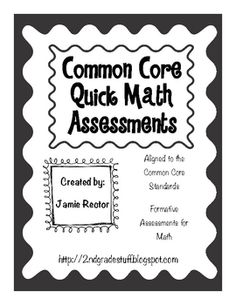 Are you teaching with the Common Core Standards yet? I have unpacked the standards and created a resource that is perfect for assessing your studen...