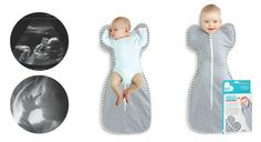 The @Adrienne Raptis To Dream sleep system features a swaddle that allows baby's arms to be upright to facilitate self-soothing. Genius! #babygear