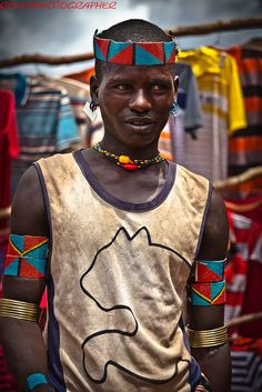 Africa |  Portrait of a young Benna man.  Omo Valley, Ethiopia  | © Ronny Reportage