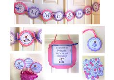 Sofia the First party package by BerrySweetParties on Etsy, $55.00