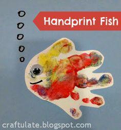 Craftulate: Handprint fish