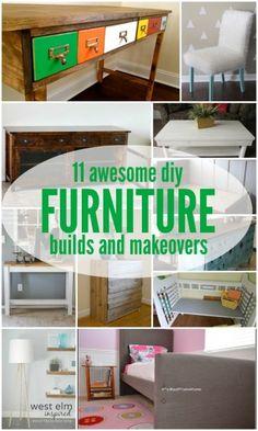 Furniture Building Tutorials and Makeovers via Remodelaholic.com