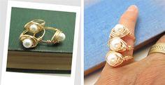 Custom Made Pearl Ring   Jane