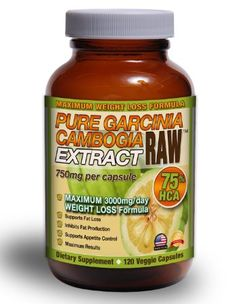 Pure Gargicina Cambogia Extract Dietary Supplement. $22. 120 capsules. 75% HCA with potassium and calcium. Take 2 750mg capsules/day 30 mins before meal. Increases serotonin, suppresses appetite, manages cortisol, and blocks enzyme that turns sugar into fat instead of glycogen for energy. A healthy way to improve mood, manage weight, and reduce stress acne. Dr. Oz reccomends: http://www.doctoroz.com/videos/garcinia-cambogia-newest-fastest-fat-buster-pt-1