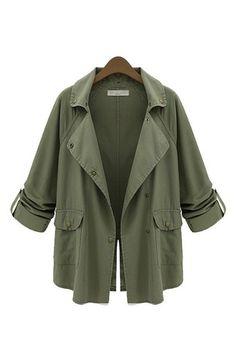 Military Green Parka Jacket