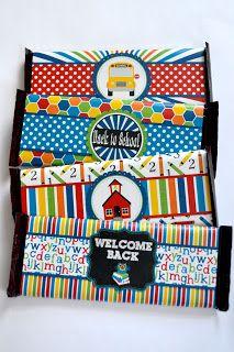 Back to School Printable candy bar wrappers printabl candi, teacher gifts, back to school candy bar, candy bar wrappers, candies, school printabl, print cut, cut candi, candi bar