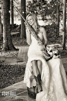 Fun Country Bride Photo!