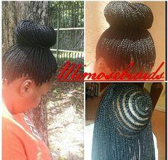 Crochet Braids Up In A Bun : Braids on Pinterest Black Braided Hairstyles, Box Braids Hairstyles ...