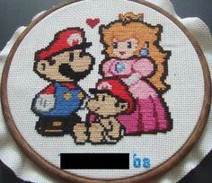 Papa Mario Cross Stitch pattern