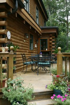 log cabin kits porch