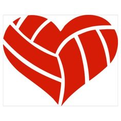 volleyball picture art | CafePress > Wall Art > Posters > Volleyball heart Wall Art Poster