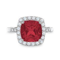 Ruby/white sapphire/10k white gold