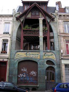 guimard hector guimard, maison coilliot, amaz architectur, centuri architectur