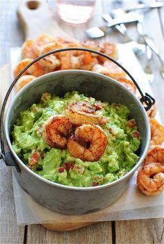 Shrimps + guacamole!
