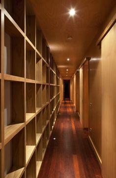 *modern interiors, corridors, lighting design, wood* - Tutukaka House by Crosson Clarke Carnachan Architects