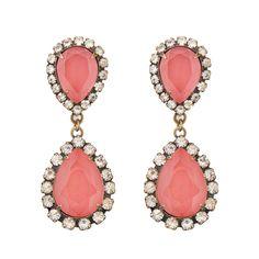 Abba Earrings in Coral