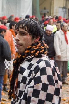 Battle of the Oranges: How does the ancient town of Ivrea, Italy celebrate its freedom during carnival? By pummelling each other with 500,000 kilograms of oranges, of course.