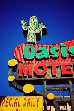Oasis Motel Vintage Los Angeles Neon Sign
