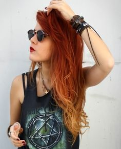 red ombre. I want this on my head now!