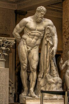 Ancient Roman sculpture, Farnese Hercules, 216 AD