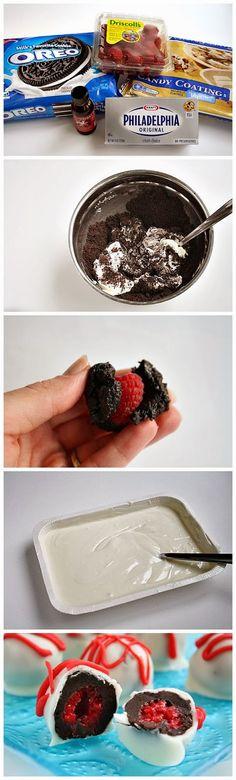 White Chocolate Raspberry Oreo Cookie Balls