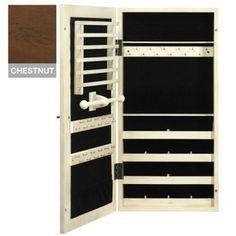 chestnut wall, mirrors, wall mount, provenc chestnut, jewelry armoire, jewelri armoir, provenc wall, armoires, mount jewelri