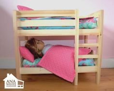 Doll bunk bed tutorial. Fits 18 inch dolls. On my to-make list for Christmas!