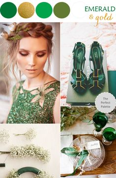 Color Story | Emerald + Gold http://www.theperfectpalette.com/2013/12/color-story-emerald-gold.html