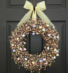 Spring Wreath - Easter Egg Wreath -