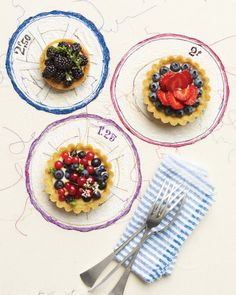 Berries and Cream Tartlets Recipe