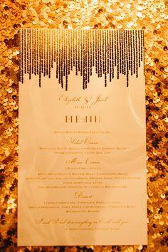 gold wedding stationery, photo by Ryan Flynn Photography http://ruffledblog.com/palace-ballroom-wedding #papergoods #stationery