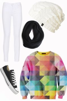 Adorable Outfit I would totally wear! I absolutely love slouchy beanies and Shelfie Sweaters! So comfy!