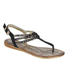 Take a look at the Black Candace Sandal on #zulily today!