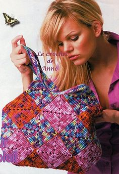 Crochet bag #3 with diagram