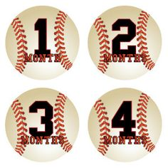 Baseball onesie stickers for a little boy - too cute!
