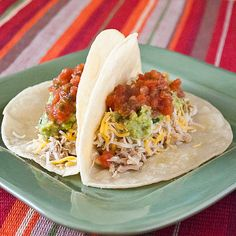 Slow Cooker Chicken Tacos Verde.